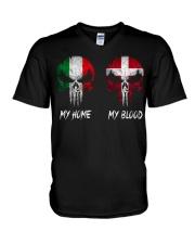 Home Italy - Blood Denmark V-Neck T-Shirt thumbnail