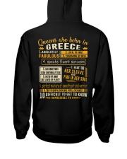 Queens Greece Hooded Sweatshirt back