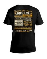 Queens Greece V-Neck T-Shirt thumbnail