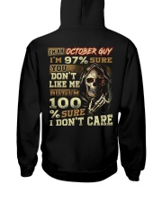 DONT CARE 10 Hooded Sweatshirt back