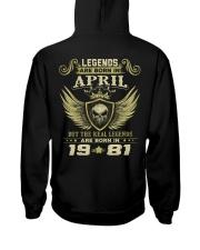 LEGENDS  81-4 Hooded Sweatshirt back