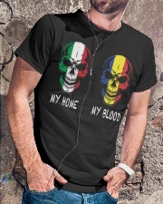 My Home Italy - Romania Classic T-Shirt lifestyle-mens-crewneck-front-4