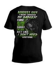 MY DARKEST 8 V-Neck T-Shirt thumbnail