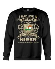 Live In America - Made In Niger Crewneck Sweatshirt thumbnail