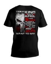 KING THREE SIDE 4 V-Neck T-Shirt thumbnail