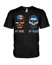 My Home America - Nicaraguan V-Neck T-Shirt thumbnail