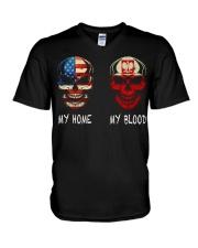 My Blood - Polish V-Neck T-Shirt thumbnail