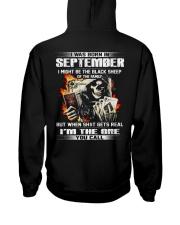 BLACK 9 Hooded Sweatshirt back