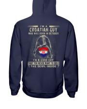 CROATIAN GUY - 010 Hooded Sweatshirt back