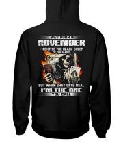 BLACK 11 Hooded Sweatshirt back