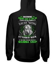 MESS WITH 10 Hooded Sweatshirt back