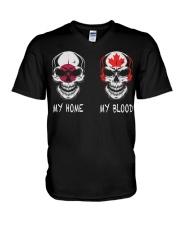 My Home Japan - Canada V-Neck T-Shirt thumbnail