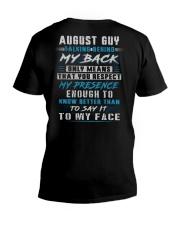 MY BACK 8 V-Neck T-Shirt thumbnail