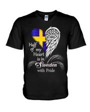 Pride Sweden V-Neck T-Shirt thumbnail