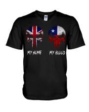 Home United Kingdom - Blood Chile V-Neck T-Shirt thumbnail