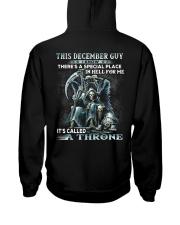 THRONE 12 Hooded Sweatshirt back