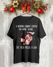 NEEDS A DOG Classic T-Shirt lifestyle-holiday-crewneck-front-2