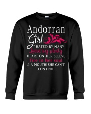Andorran Girl Crewneck Sweatshirt thumbnail