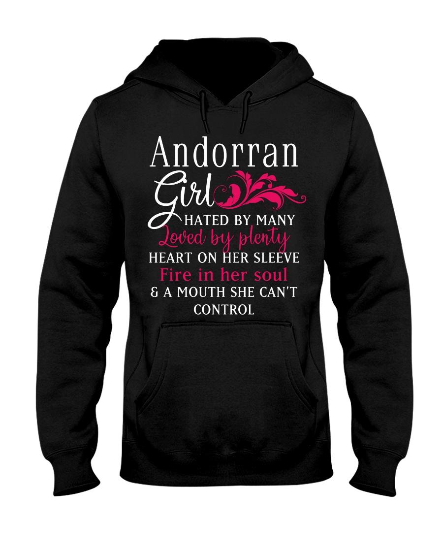 Andorran Girl Hooded Sweatshirt