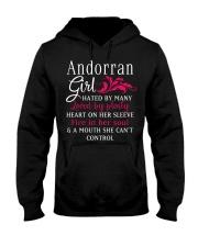 Andorran Girl Hooded Sweatshirt front