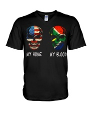 My Blood - South Africa V-Neck T-Shirt thumbnail