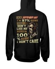 DONT CARE 9 Hooded Sweatshirt back