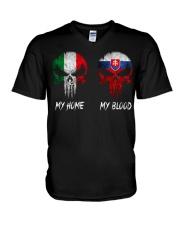 Home Italy - Blood Slovakia V-Neck T-Shirt thumbnail