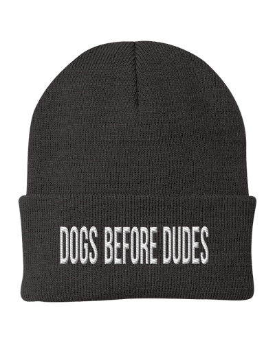 DOG BEFORE DUDES - Embroidered product