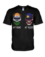 My Home India - Malaysia V-Neck T-Shirt thumbnail