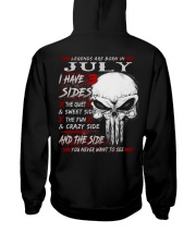 3 SIDE NEW 7 Hooded Sweatshirt back