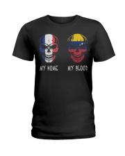 My Home France - Venezuela Ladies T-Shirt thumbnail