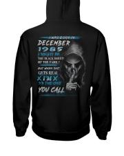 1985-12 Hooded Sweatshirt back