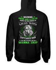 MESS WITH 9 Hooded Sweatshirt back