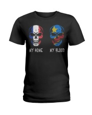 My Home France - Congo Ladies T-Shirt thumbnail