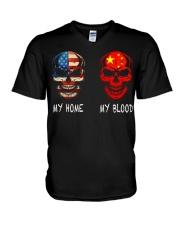 My Blood - China V-Neck T-Shirt thumbnail