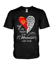 Heart - Pride Montenegro V-Neck T-Shirt thumbnail