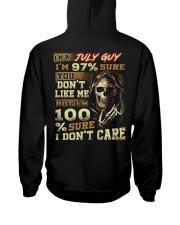 DONT CARE 7 Hooded Sweatshirt back