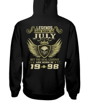 LEGENDS 98 7 Hooded Sweatshirt back