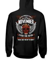 EVEN THE DEVIL 11 Hooded Sweatshirt back