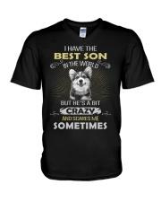 Dog-Son-Corgi  V-Neck T-Shirt thumbnail