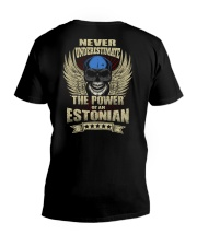 The Power - Estonian V-Neck T-Shirt thumbnail