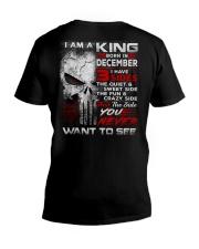 KING THREE SIDE 12 V-Neck T-Shirt thumbnail