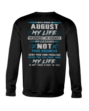 MY LIFE TEXT 8 Crewneck Sweatshirt thumbnail