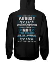MY LIFE TEXT 8 Hooded Sweatshirt back