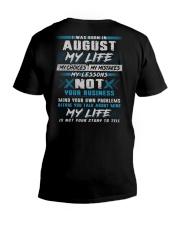 MY LIFE TEXT 8 V-Neck T-Shirt thumbnail