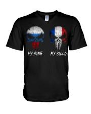 Home Russia - Blood France V-Neck T-Shirt thumbnail