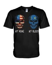 My Blood - Democratic Republic of theCongo V-Neck T-Shirt thumbnail
