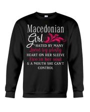 Macedonian Girl Crewneck Sweatshirt thumbnail