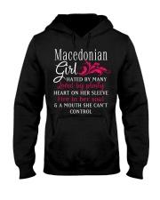 Macedonian Girl Hooded Sweatshirt front