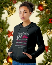 Macedonian Girl Hooded Sweatshirt lifestyle-holiday-hoodie-front-4